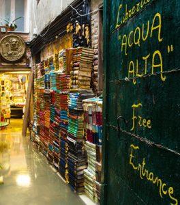 """Historic Library """"Acqua Alta"""" on Venice"""