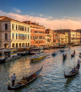 The Most Beautiful Palaces Facing The Grand Canal In Venice Italy