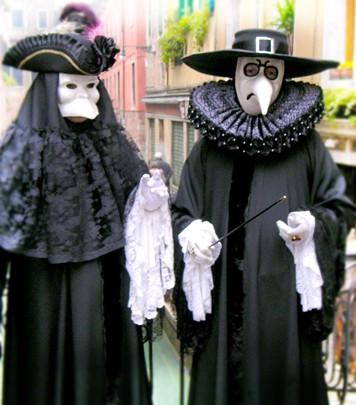 Traditonal Venice Carnival Masks